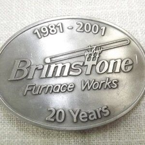 Vintage Brimstone Furnace Works Belt Buckle